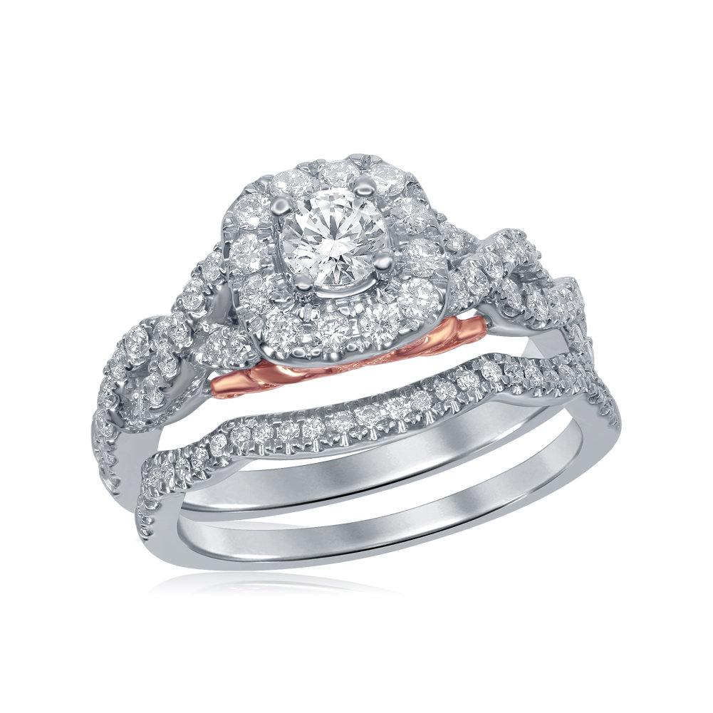 Bellissimo Bridal Collection diamond ring 1 ctw. 14kt - 1/3 ct. center stone 114803