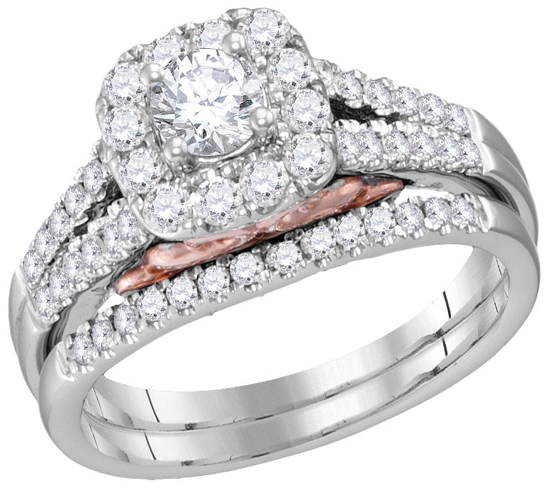 Bellissimo Bridal Collection diamond ring 1 ctw. 14kt - 1/3 ct. center stone 114792