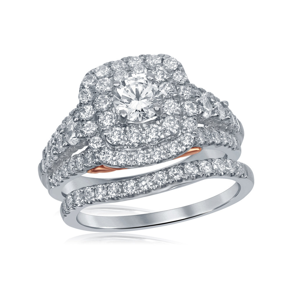 Bellissimo Bridal Collection diamond ring 2 ctw. 14kt - 1/2 ct. center stone 114801