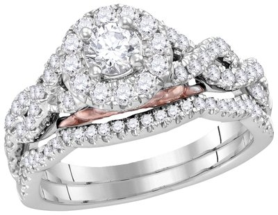 Bellissimo Bridal Collection diamond ring 1 ctw. 14kt - 1/3 ct. center stone 114804