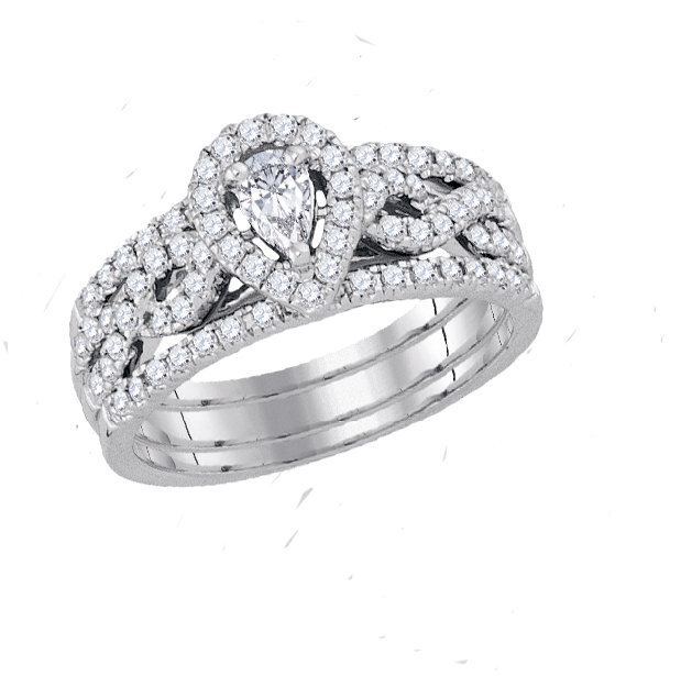 Enchanting Bliss Bridal Collection diamond ring 7/8 ctw. 14kt - 1/4 ct. center stone 92918