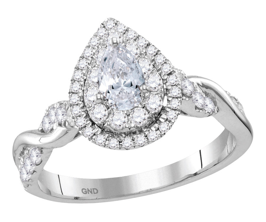 Enchanting Bliss Bridal Collection diamond ring 1 ctw. 14kt - 1/3 ct. center stone 117895
