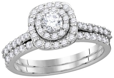 Enchanting Bliss Bridal Collection diamond ring 1 ctw. 14kt - 1/4 ct. center stone 113074