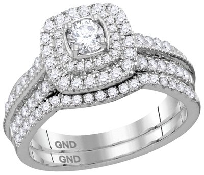 Enchanting Bliss Bridal Collection diamond ring 1 ctw. 14kt - 1/4 ct. center stone 113596