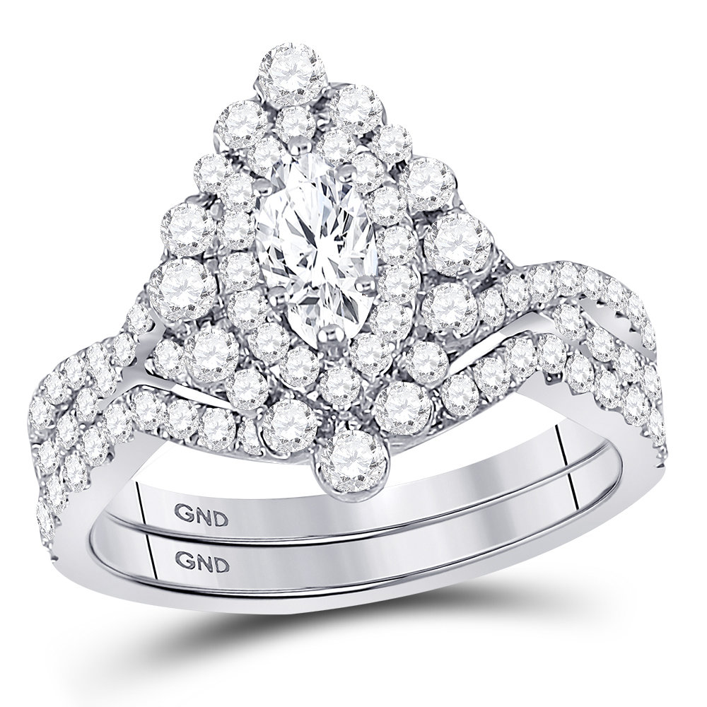 Enchanting Bliss Bridal Collection diamond ring 2 ctw. 14kt - 1/3 ct. center stone 127201
