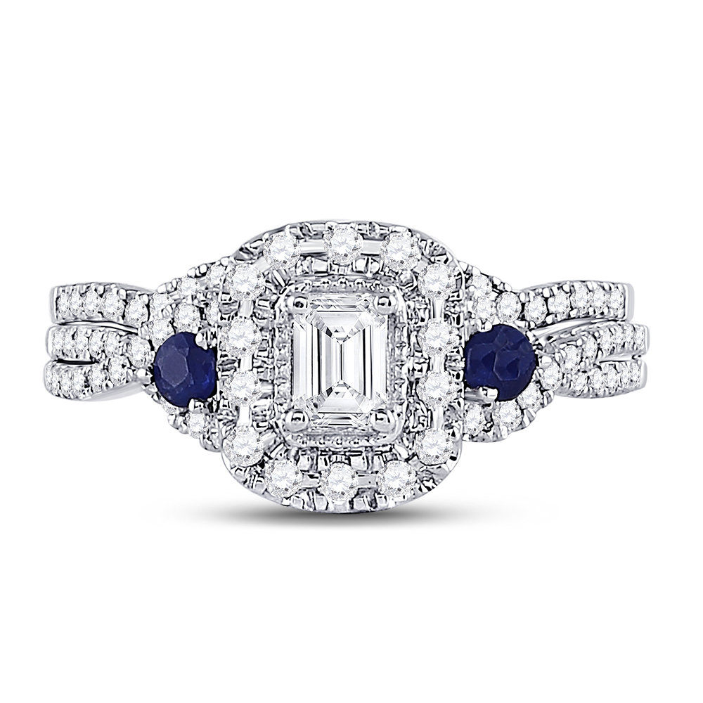 Royal Blue Collection diamond ring 3/4 ctw. 14kt - 1/3 ct. center stone 128866