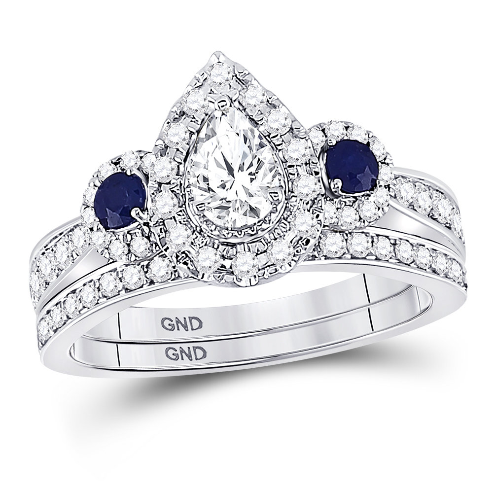 Royal Blue Collection diamond ring 7/8 ctw. 14kt - 1/3 ct. center stone 128869