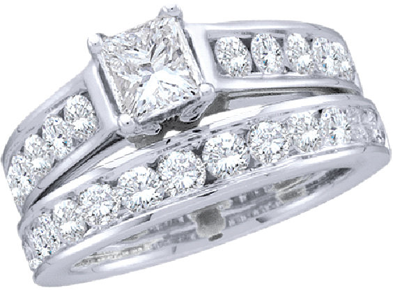 Enchanting Bliss Bridal Collection diamond ring 1 ctw. 14kt - 1/3 ct. center stone 18505