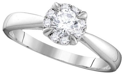 Enchanting Bliss Bridal Collection diamond ring 1/2 ctw. 14kt - 3/8 ct. center stone 106351
