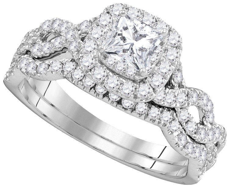 Enchanting Bliss Bridal Collection diamond ring 1 ctw. 14kt - 1/3 ct. center stone 106339