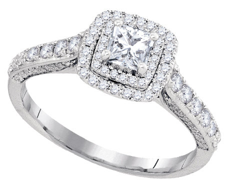 Enchanting Bliss Bridal Collection diamond ring 1 ctw. 14kt - 1/3 ct. center stone 93728