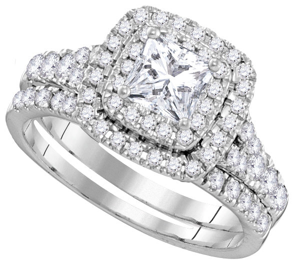 Lucient Bridal Collection diamond ring 1 1/2 ctw. 14kt - 5/8 ct. center stone 106331