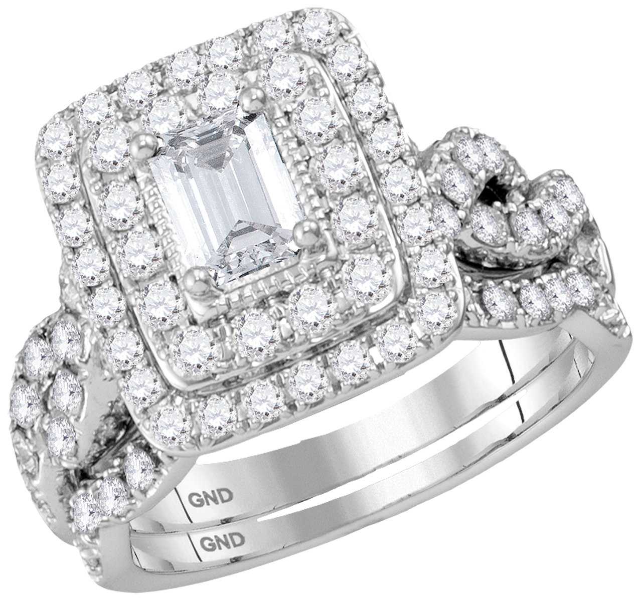Lucient Bridal Collection diamond ring 2 ctw. 14kt - 1/2 ct. center stone 117001