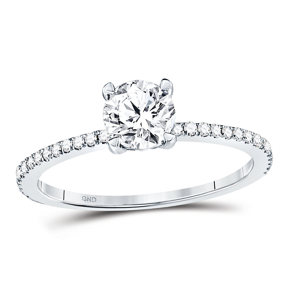Bridal Collection diamond ring 1 ctw. 14kt - 3/4 ct. center stone 121012