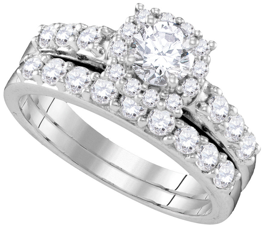 Lucient Bridal Collection diamond ring 1 1/2 ctw. 14kt - 1/2 ct. center stone 109873