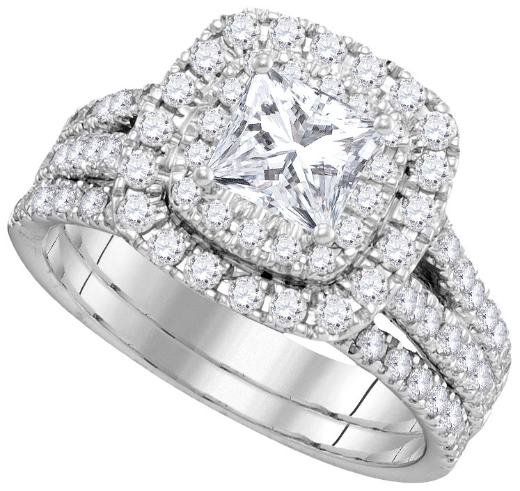Bridal Collection diamond ring 2 ctw. 14kt - 7/8 ct. center stone 106371