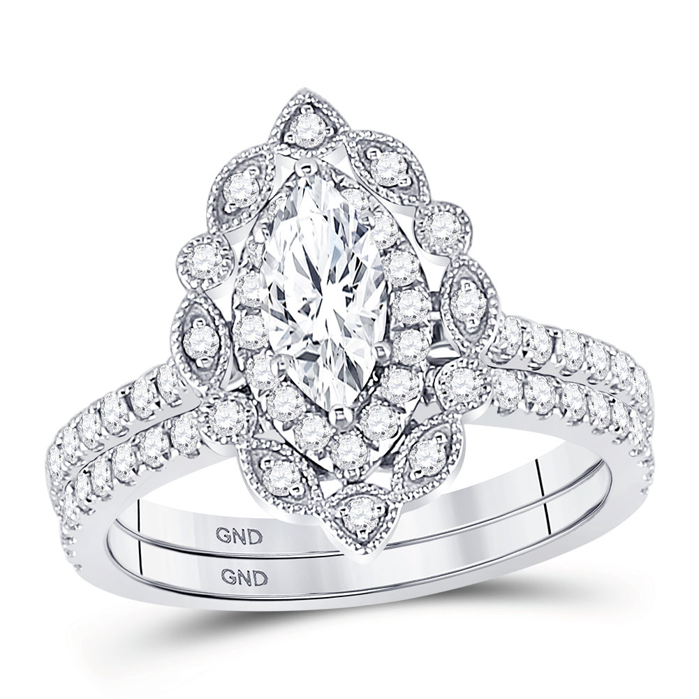 Bridal Collection diamond ring 1 1/4 ctw. 14kt - 1/2 ct. center stone 127594