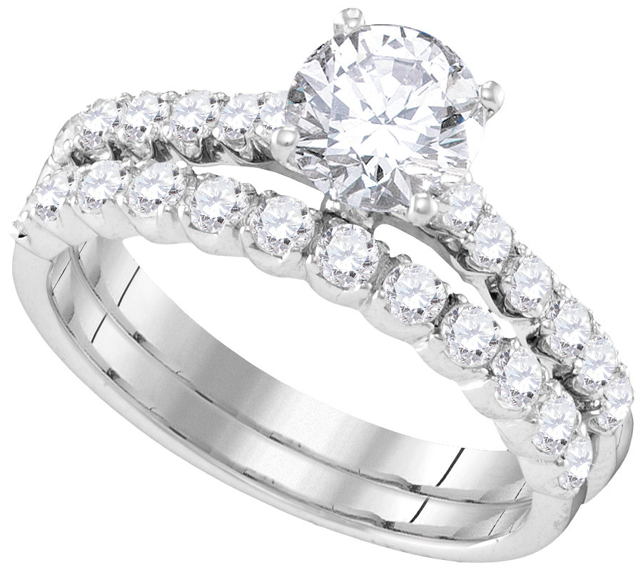 Bridal Collection diamond ring 2 1/5 ctw. 14kt - 3/4 ct. center stone 109905
