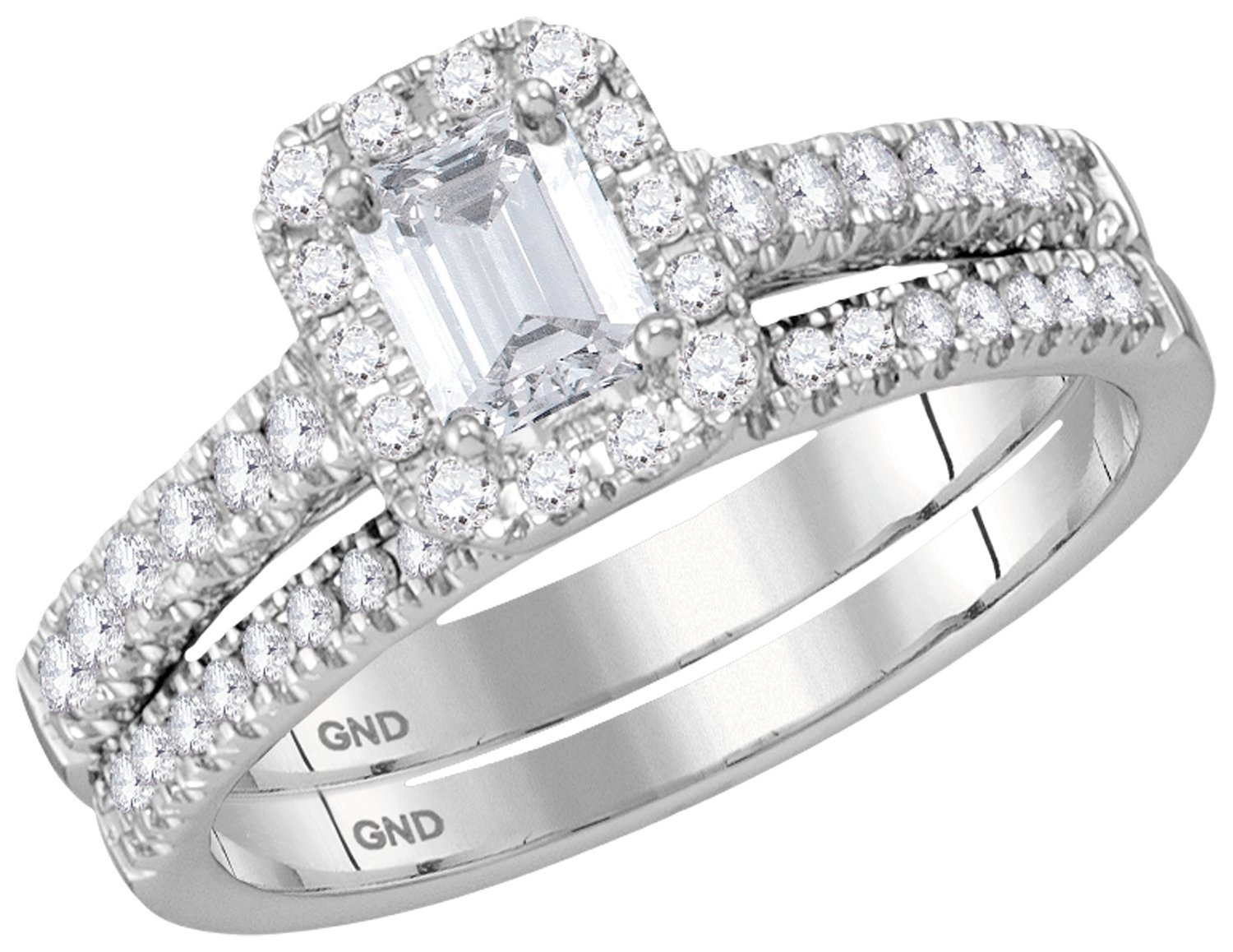 Bridal Collection diamond ring 1 ctw. 14kt - 1/2 ct. center stone 117029