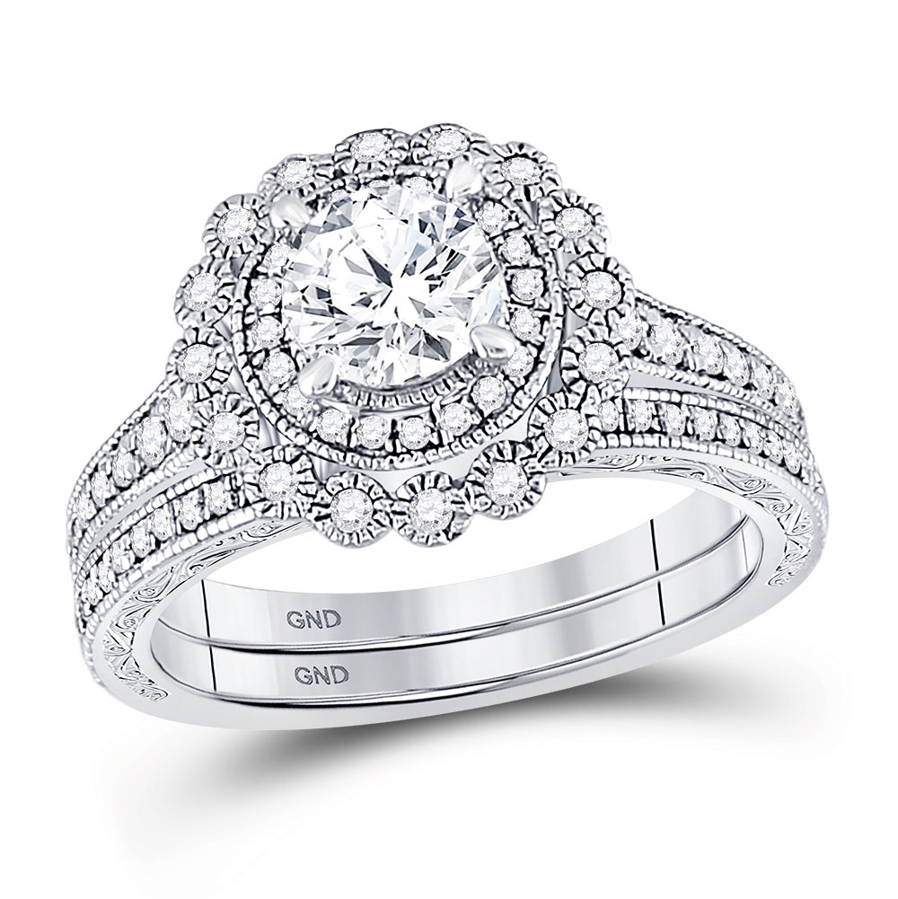 Bridal Collection diamond ring 1 1/5 ctw. 14kt - 3/4 ct. center stone 148938