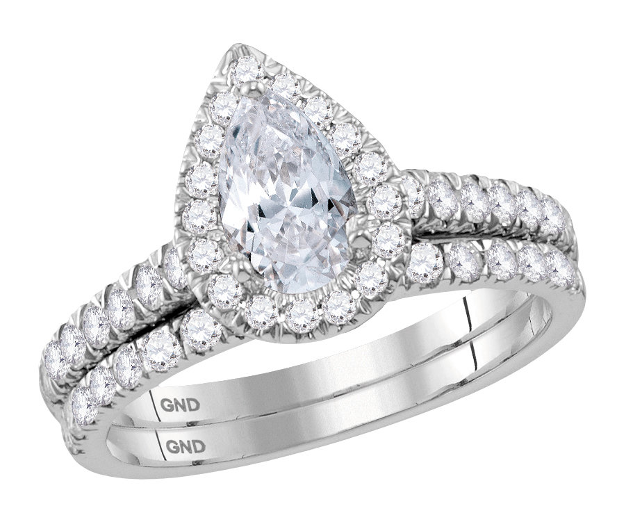 Bridal Collection diamond ring 1 1/2 ctw. 14kt - 3/4 ct. center stone 117881