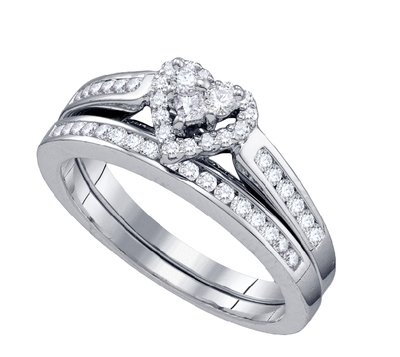 Tesera Bridal Collection diamond heart ring 1/2 ctw. 10kt 66734