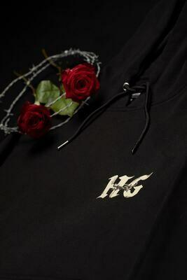 HG rose hoodie black