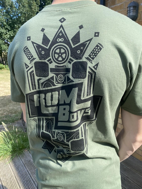 "Rom Boys T in ""Military Khaki"""