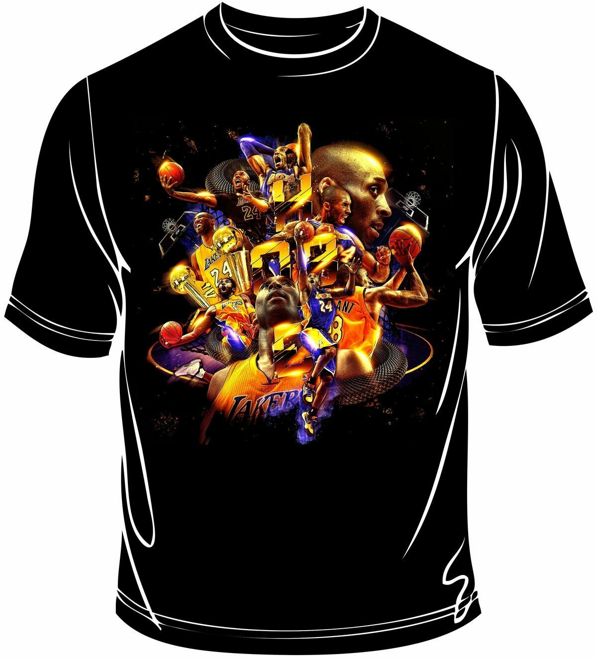 Kobe mix full print t-shirt