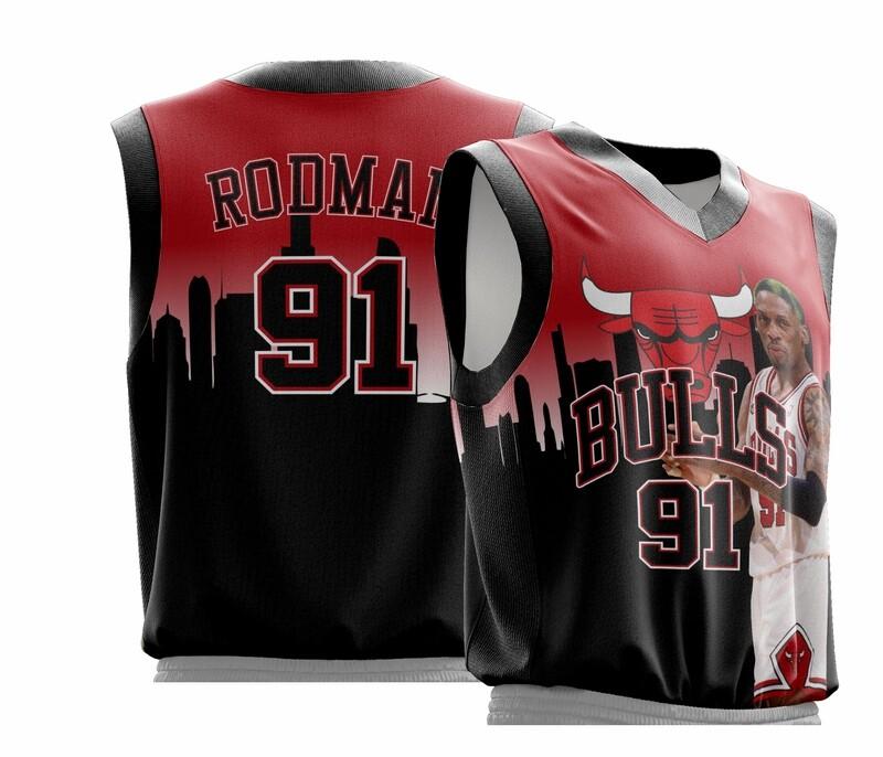Rodman Vintage full print jersey B