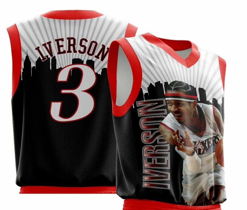 Vintage Iverson Full Print Shirt