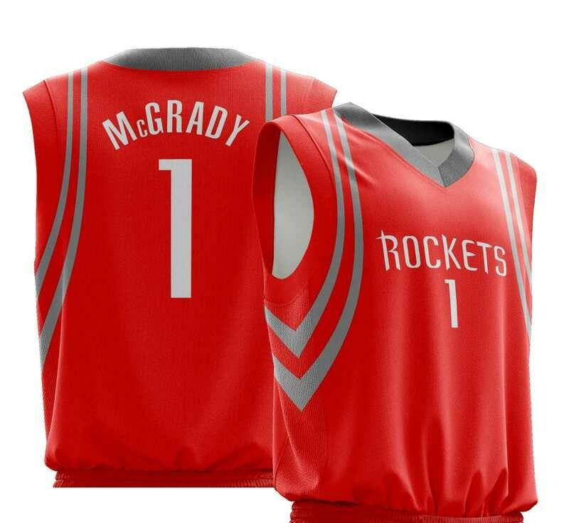 Vintage Tracy Mcgrady  Houston Red Shirt