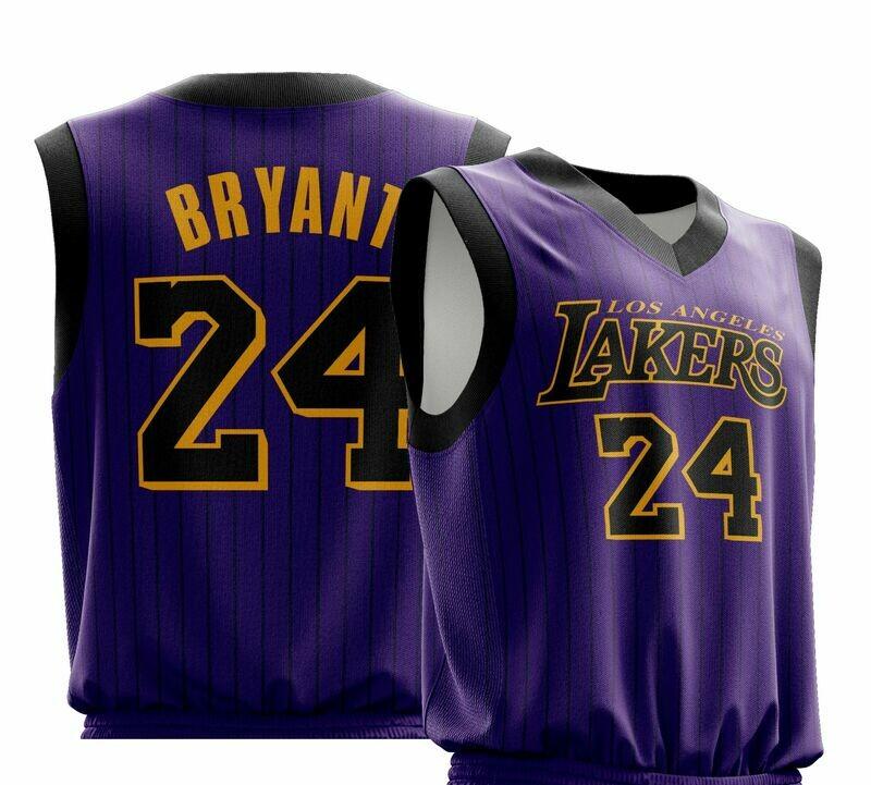 Vintage KOBE 24 purple-black jersey