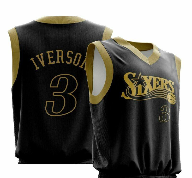 Vintage Iverson black gold  Shirt