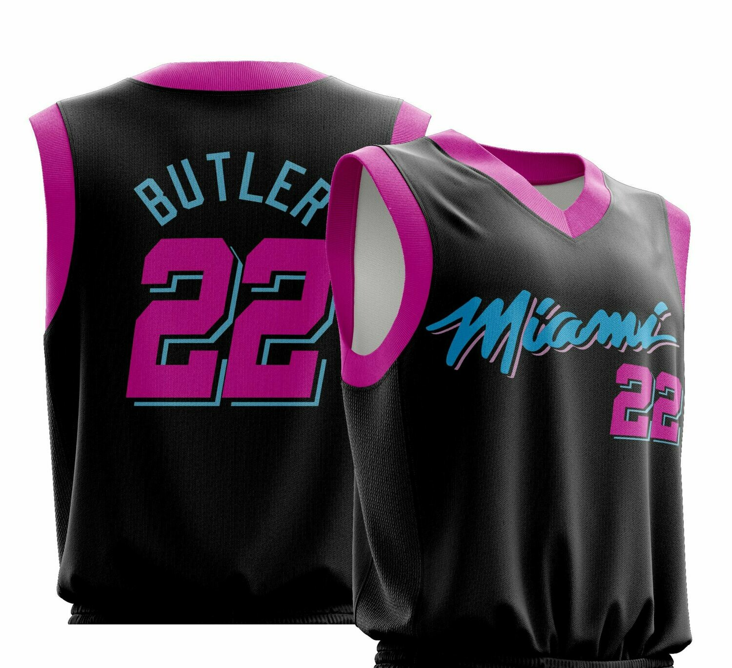 Butler City Black pink  Jersey