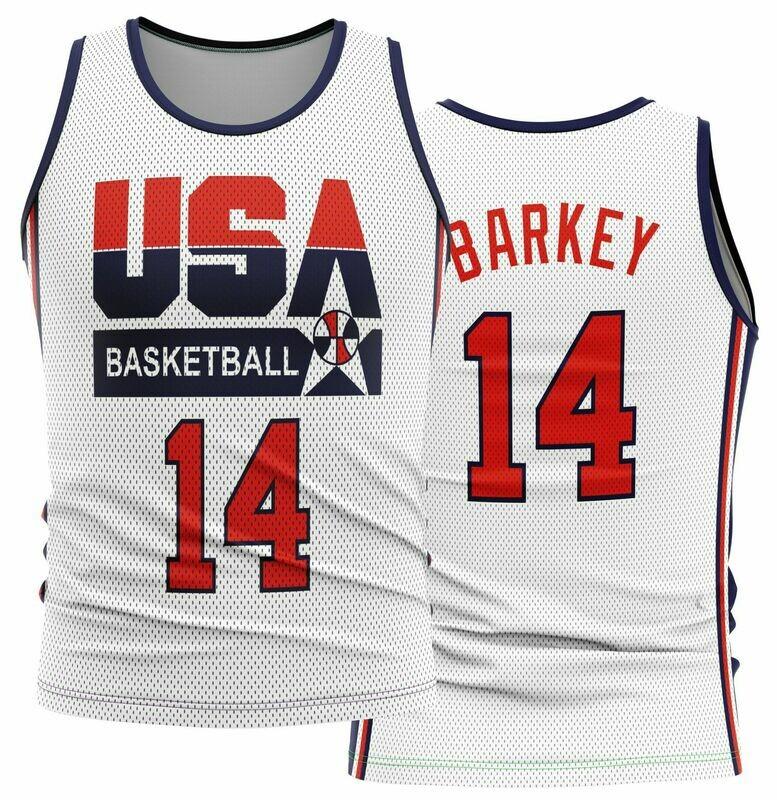 Vintage Barkley  USA White Shirt