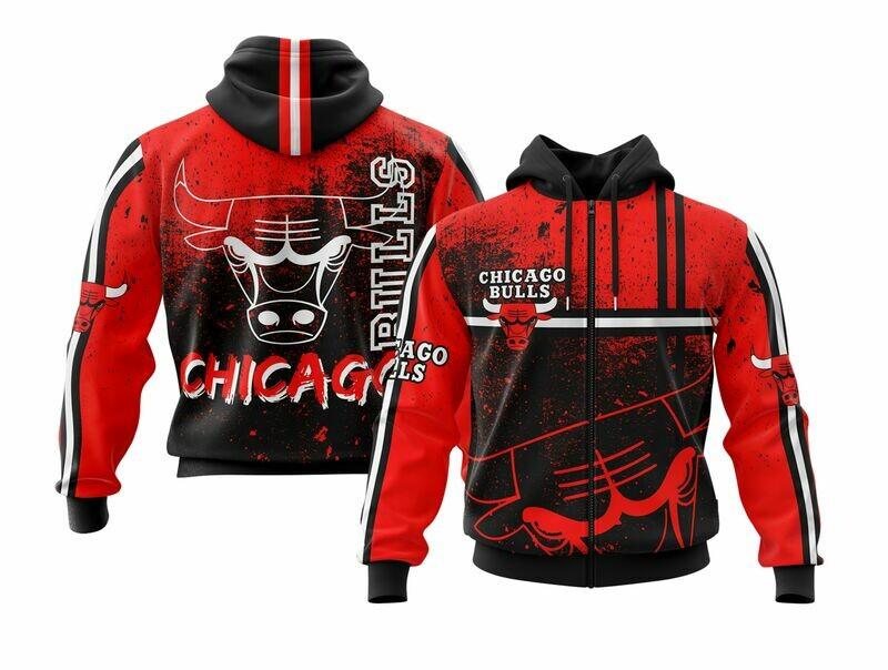 OFFER Chicago Full Zip Hoodie MEDIUM