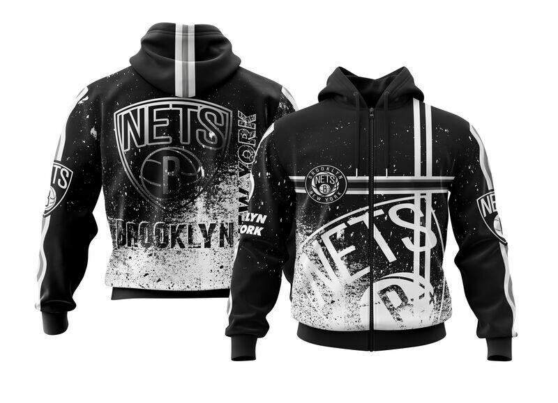 Brooklyn Black Full Zip Hoodie
