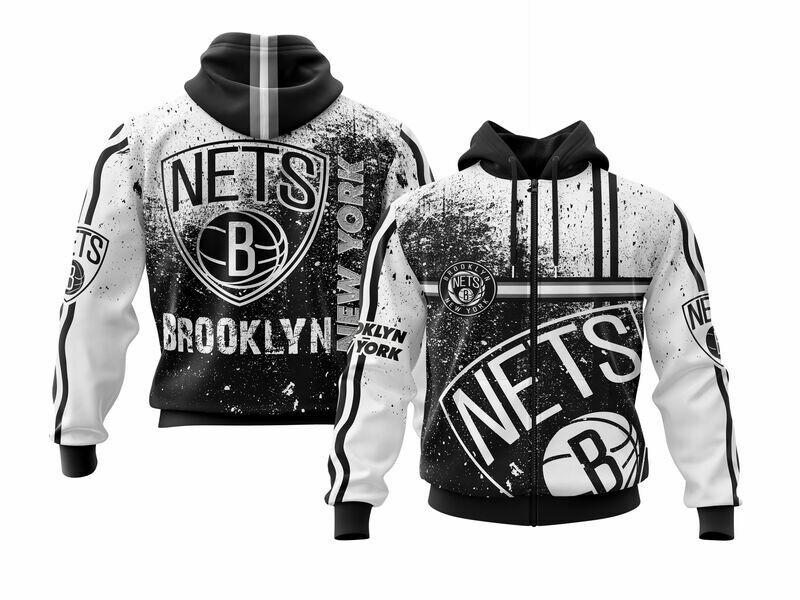Brooklyn White Full Zip Hoodie