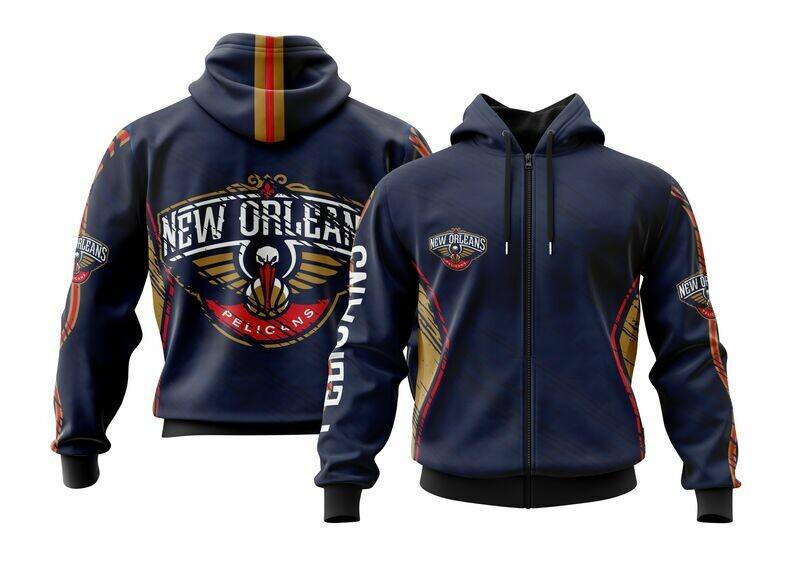Pelicans  Full Zip Hoodie