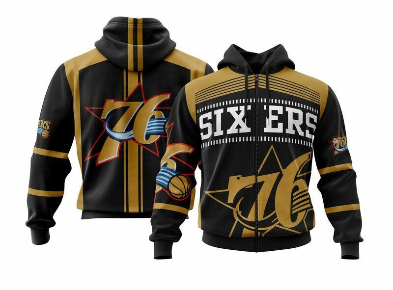 Sixers  Full Zip Hoodie