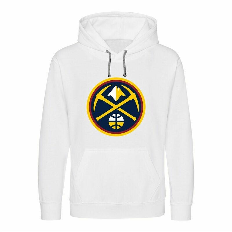 Denver white  hoodies LARGE