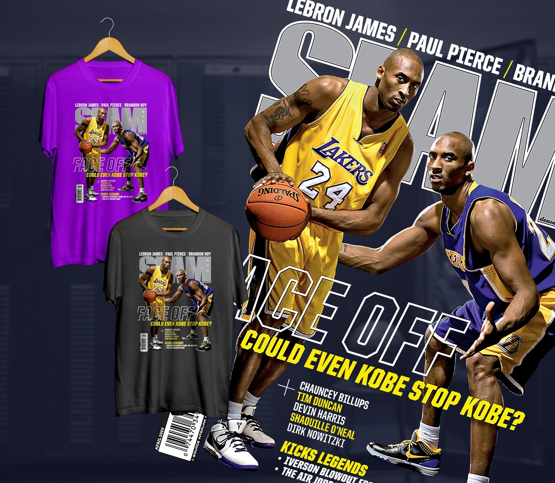 Kobe face off  Slam t-shirt