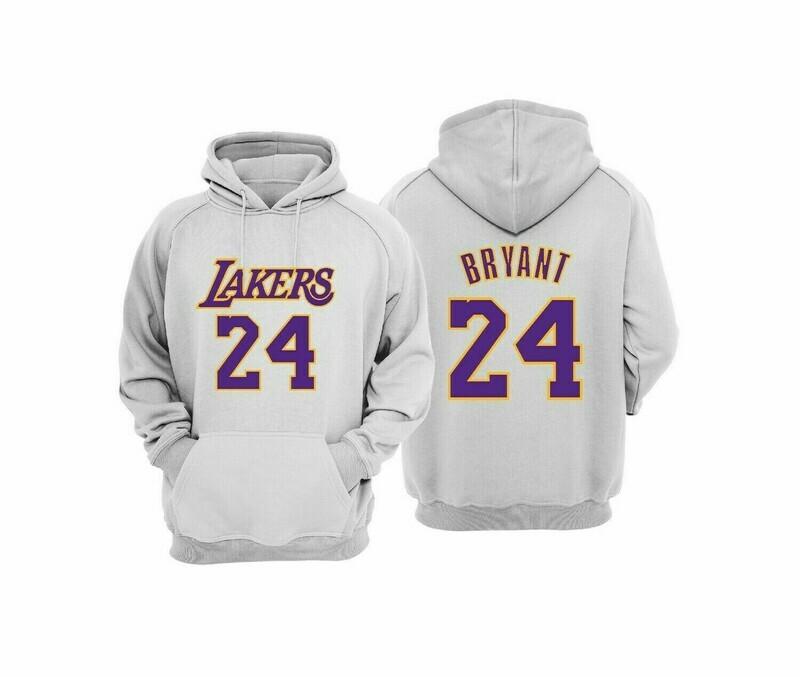 OFFER Lakers 24 GREY  Hoodie 2XL
