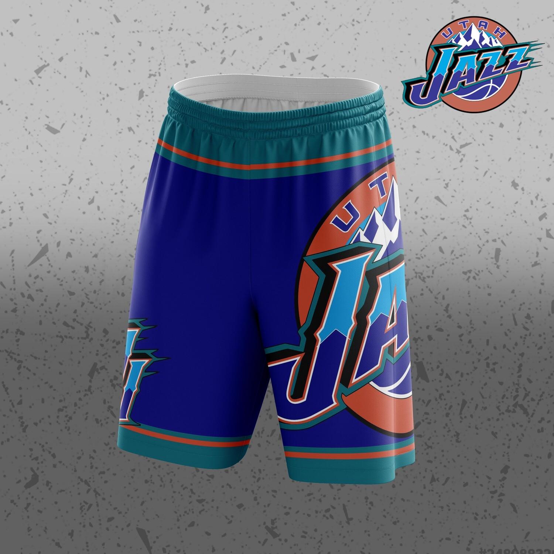 Jazz retro Big logo Shorts