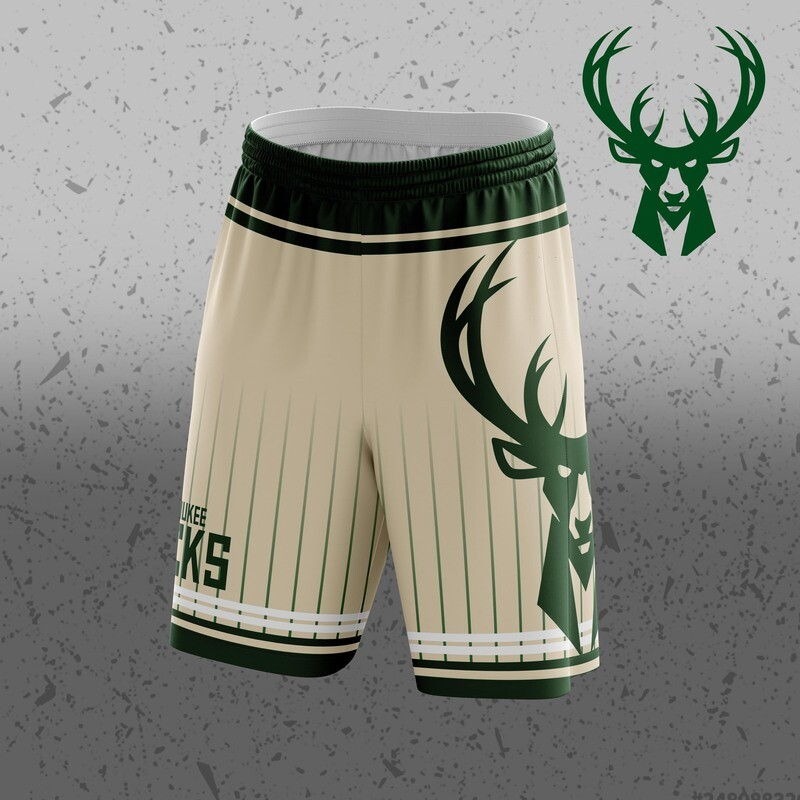 Bucks  Big Logo Shorts