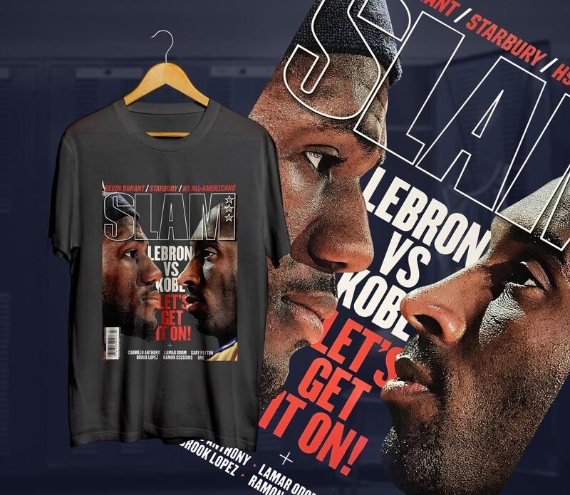 Lebron-Kobe  Slam t-shirt