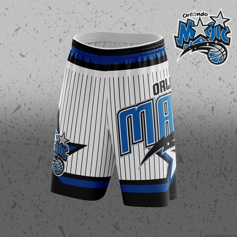 Orlando white  Big Logo Shorts