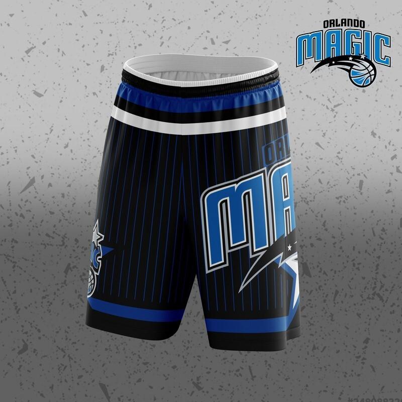 Orlando Black Big Logo Shorts