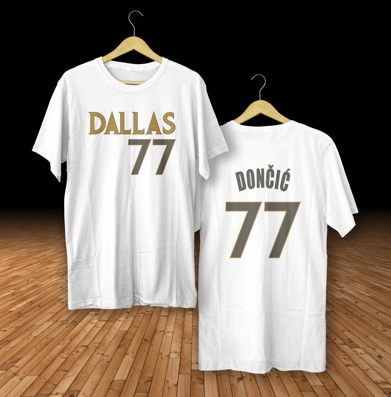 Doncic Dallas white  t-shirt